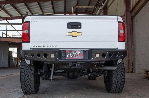 ADD R283401280103 GMC Sierra 1500 2014-2016 Stealth Rear Bumper W/ Backup Sensors - BumperOnly