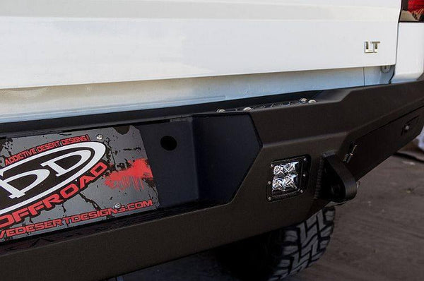 ADD R287301280103 GMC Sierra 1500 2014-Up Honeybadger Rear Bumper W/ Backup Sensors - BumperOnly