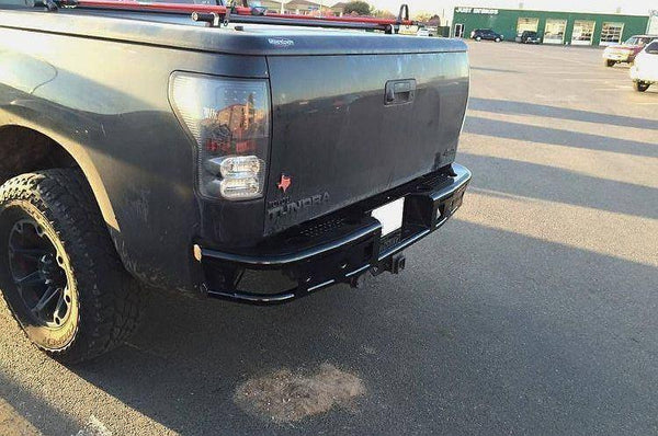 ADD R7523012801NA 2007 - 2013 Toyota Tundra Rear Dimple R Bumper With Dually Light Mounts - BumperOnly