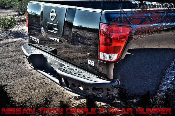 ADD R9022912801NA 2004-2014 Nissan Titan Rear Dimple R Bumper W/Dually Light Mount - BumperOnly