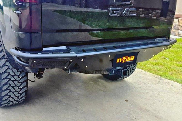N-Fab T07RBS-H Rear Bumper Toyota Tundra 2007-2013 with Skid Plate Gloss Black RBS