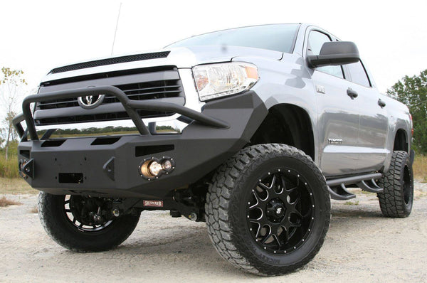 FabFours TT14-H2852-1 Premium front winch bumper/guard TOYOTA TUNDRA 2014-2016 - BumperOnly