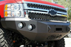 Road Armor Stealth 37200B 2008-2010 Chevy Silverado 2500/3500 Front Winch Ready Bumper No Guard, Black Finish and Round Fog Light Hole