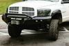 Road Armor Stealth 44074B 2006-2008 Dodge Ram 1500 Front Winch Ready Bumper Pre-Runner Style, Black Finish and Round Fog Light Hole