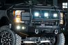 Road Armor 617F3B 2017-2018 Ford F250/F350 Superduty Stealth Front Winch Ready Bumper Intimidator, Black Finish and Square Fog Light Hole
