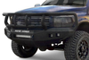 Road Armor 406R2B 2006-2009 Dodge Ram 2500/3500 Stealth Front Winch Ready Bumper Titan II Grille Guard, Black Finish and Square Fog Light Hole