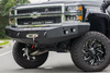 Road Armor Stealth 314R0B 2014-2015 Chevy Silverado 1500 Front Winch Ready Bumper No Guard, Black Finish and Square Fog Light Hole