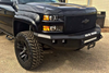 Road Armor Stealth 314R0B-NW 2014-2015 Chevy Silverado 1500 Front Non-Winch Bumper No Guard, Black Finish and Square Fog Light Hole