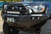 Road Armor Stealth 905R5B 2012-2015 Toyota Tacoma Front Winch Ready Bumper Lonestar Guard, Black Finish and Square Fog Light Hole