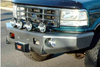 TrailReady 12100B Ford Bronco 1992-1996 Extreme Duty Front Bumper Winch Ready Base - BumperOnly