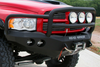 Road Armor Stealth 44035B 2002-2005 Dodge Ram 1500 Front Winch Ready Bumper Lonestar Guard, Black Finish and Round Fog Light Hole