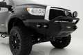 Road Armor Stealth 99034B 2007-2013 Toyota Tundra Front Winch Ready Bumper Pre-Runner Style, Black Finish and Round Fog Light Hole