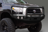 Road Armor Stealth 99031B 2007-2013 Toyota Tundra Front Winch Ready Bumper Lonestar Guard, Black Finish and Round Fog Light Hole