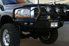 Road Armor Stealth 44062B-NW 2006-2009 Dodge Ram 2500/3500 Front Non-Winch Bumper Titan II Grille Guard, Black Finish and Round Fog Light Hole