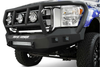 Road Armor Stealth 605R2B 2005-2007 Ford F250/F350/F450 Superduty Front Winch Ready Bumper Titan II Grille Guard, Black Finish and Square Fog Light Hole