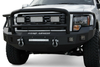 Road Armor Stealth 605R5B 2005-2007 Ford F250/F350/F450 Superduty Front Winch Ready Bumper Lonestar Guard, Black Finish and Square Fog Light Hole