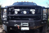 Road Armor Stealth 61105B 2011-2016 Ford F250/F350/F450 Superduty Front Winch Ready Bumper Lonestar Guard, Black Finish and Round Fog Light Hole