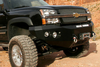 Road Armor Stealth 370R0B 2003-2007 Chevy Silverado 2500/3500 Front Winch Ready Bumper No Guard, Black Finish and Square Fog Light Hole