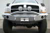 Road Armor Stealth 44064B 2006-2009 Dodge Ram 2500/3500 Front Winch Ready Bumper Pre-Runner Style, Black Finish and Round Fog Light Hole