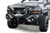 Fab Fours GR3800-1 Chevy Silverado 1500 2016-2018 Grumper Front Bumper Winch Ready Integrated Sensor Holes