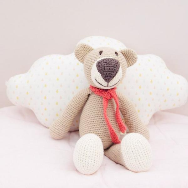 Bailey the Ragamuffin Bear - Oat - babyragsnstuff