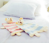 Teddy Sleep/Play Buddy - Pink and Cream - babyragsnstuff