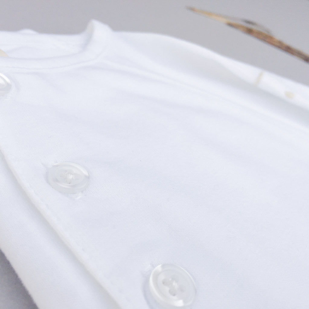 Relaxed Henley Tee - babyragsnstuff
