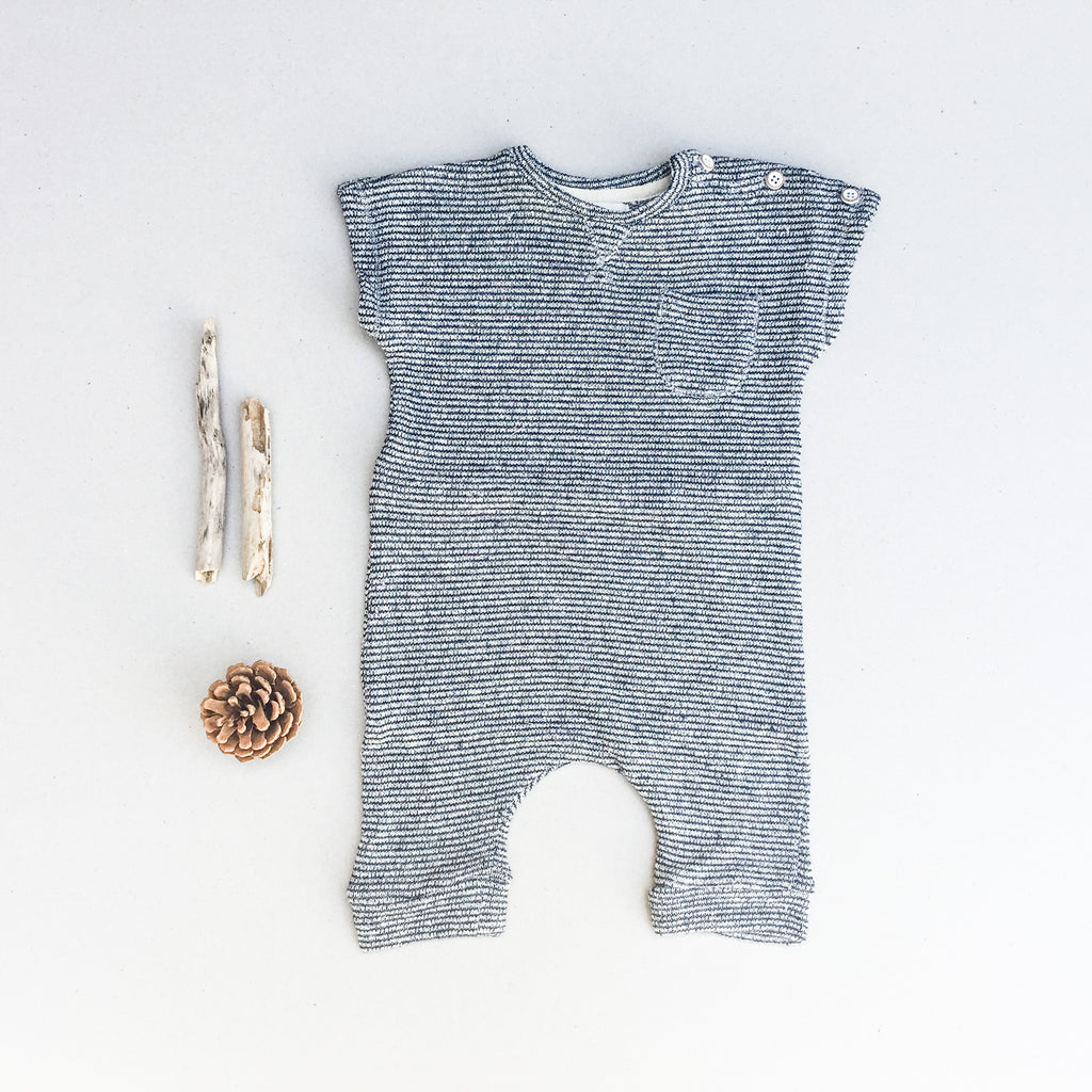 Janoah Jumpsuit - Mini-stripes - babyragsnstuff