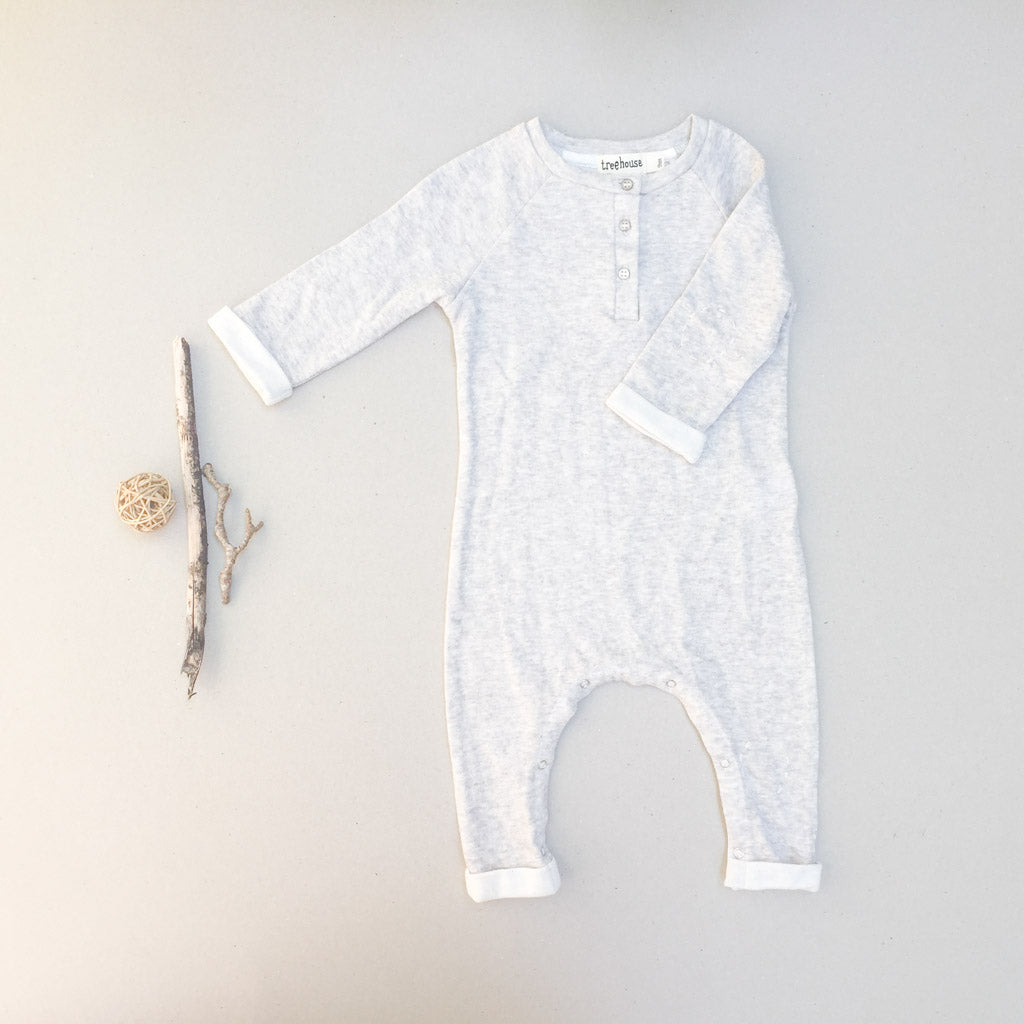 Lilo Onesie - Light Grey - babyragsnstuff