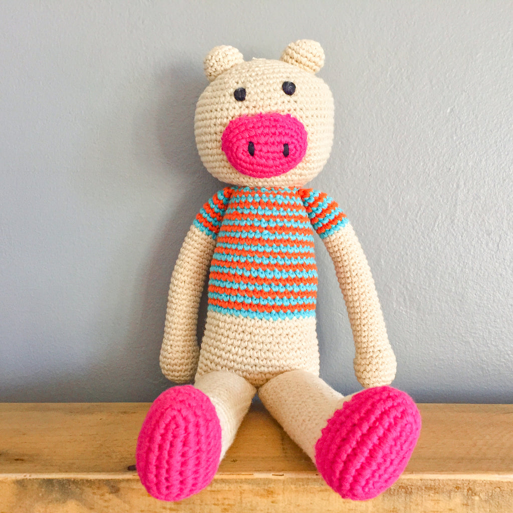 Owen the Ragamuffin Pig - babyragsnstuff