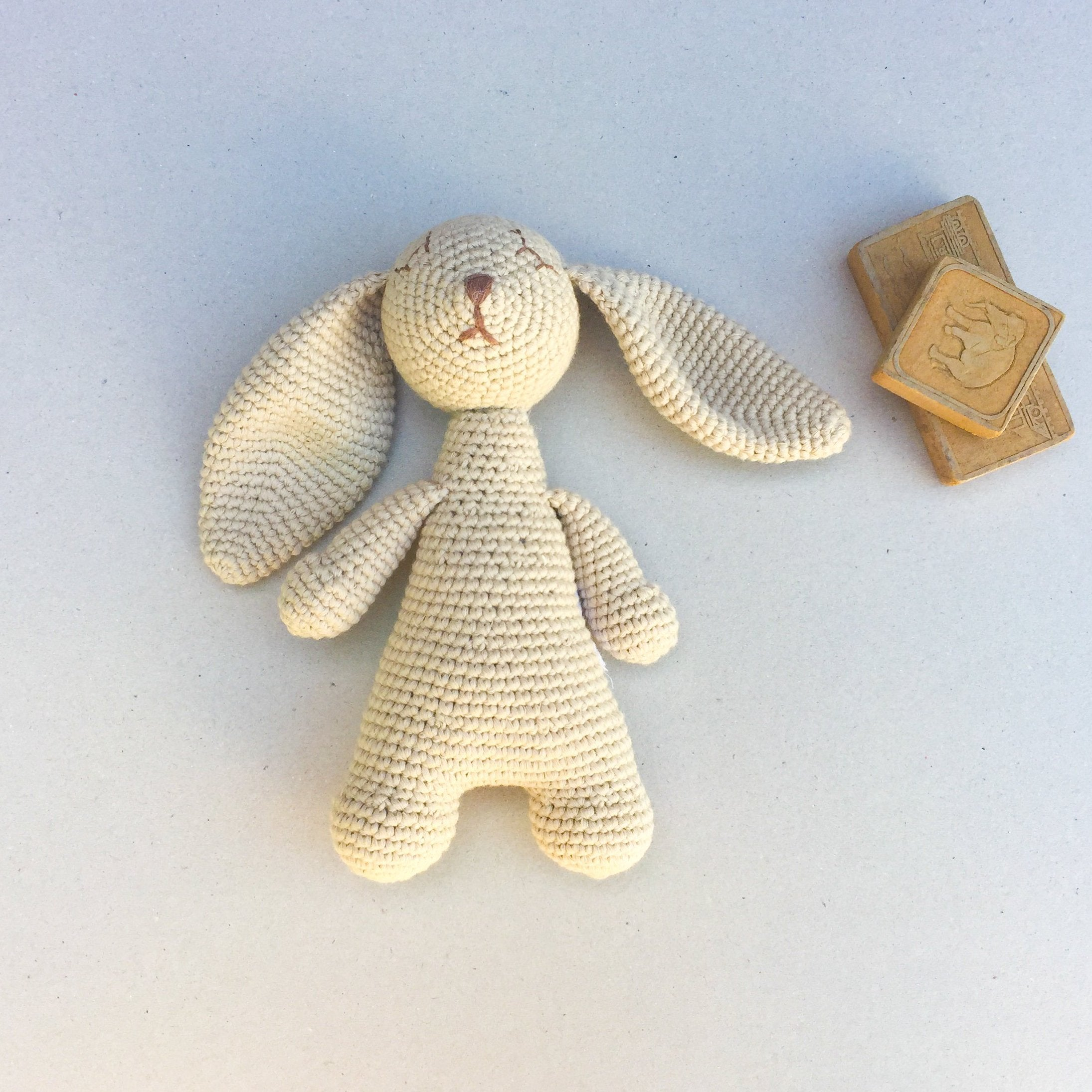 Sleeping Riley the Little Rabbit - Vanilla Bean - babyragsnstuff
