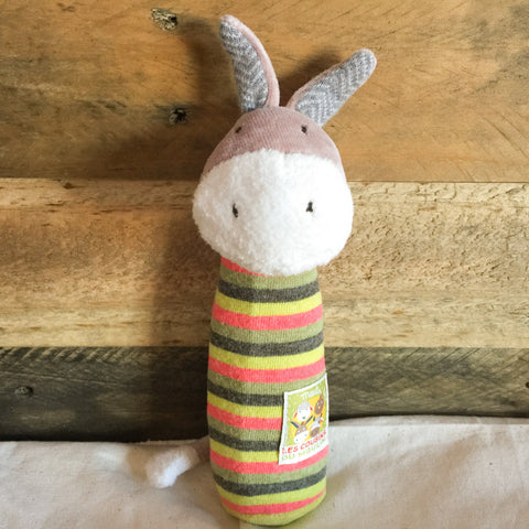Darcy the Donkey Squeaker - babyragsnstuff
