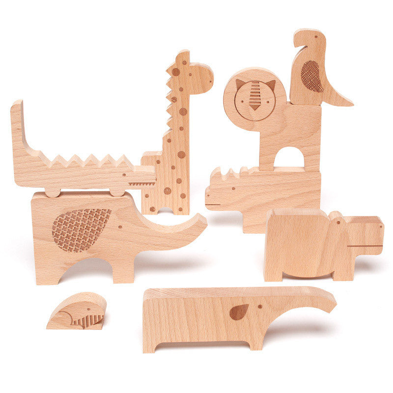 Safari Jumble Puzzle Block Set - babyragsnstuff