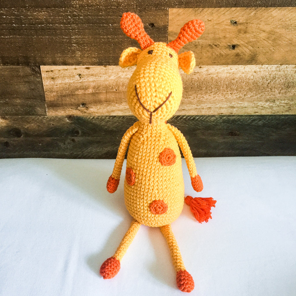 Ginger the Ragamuffin Giraffe - babyragsnstuff