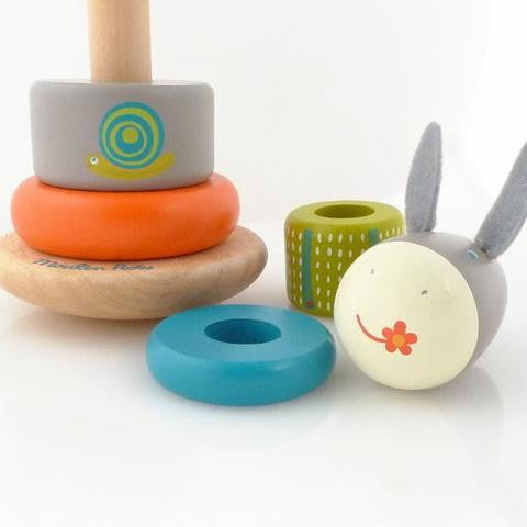Darcy the Donkey Stacker - babyragsnstuff