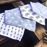 Neutral Bandana Bibs - Set of 4 - babyragsnstuff