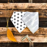 Neutral Bandana Bibs - Set of 2 - babyragsnstuff