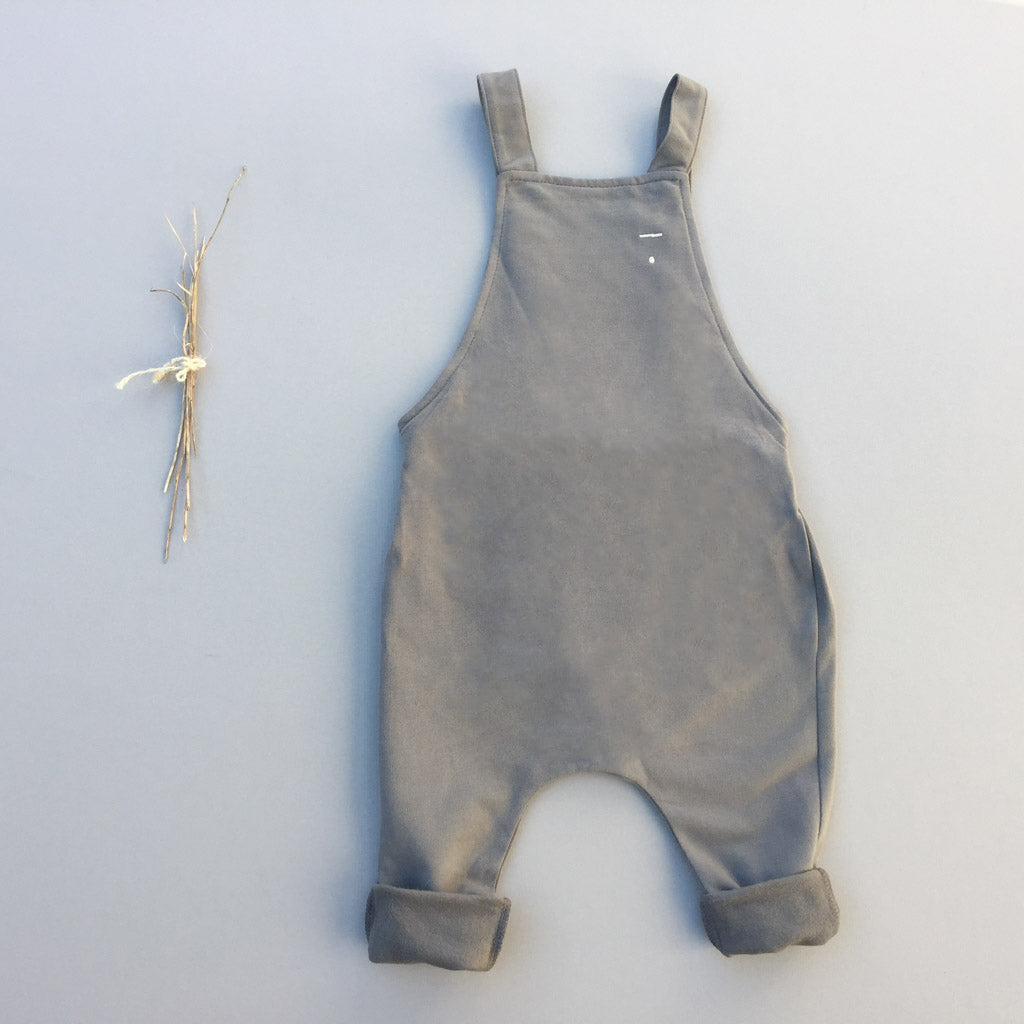 scout overall in ash - babyragsnstuff