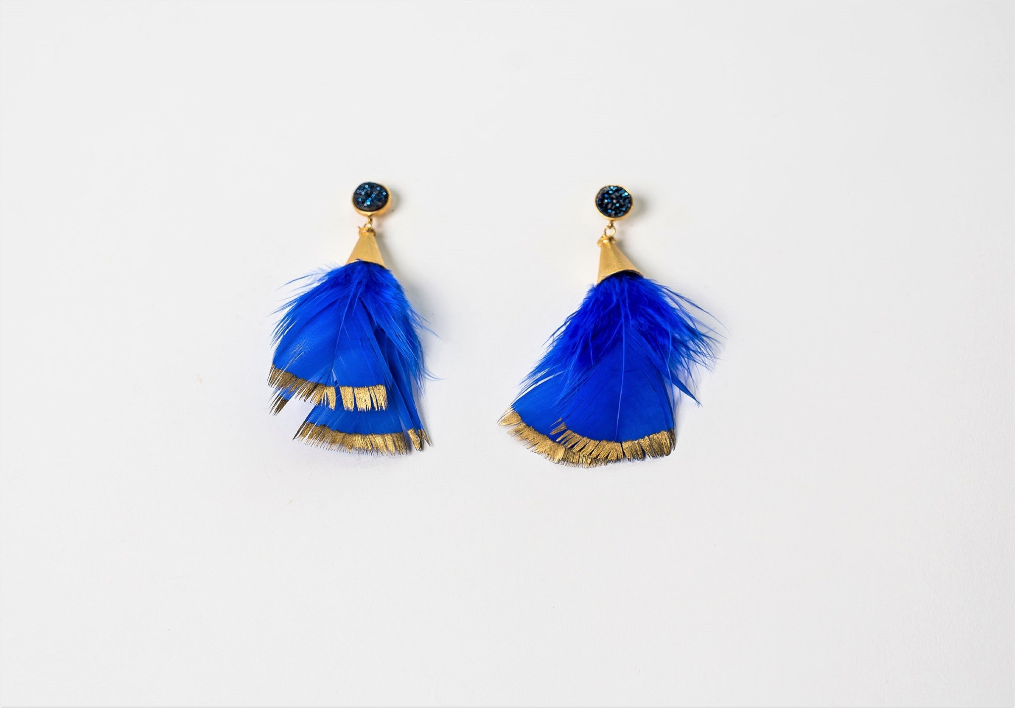painted products designs white lauren earrings feathered milmine feather