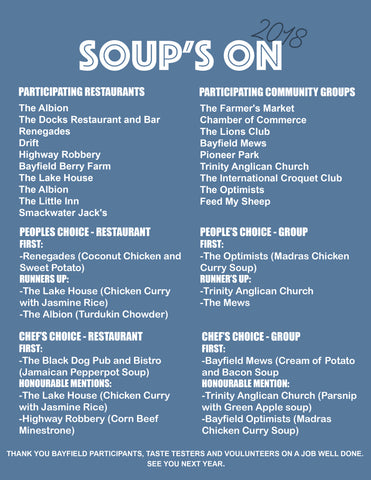 Bayfield Town Hall Soup's On