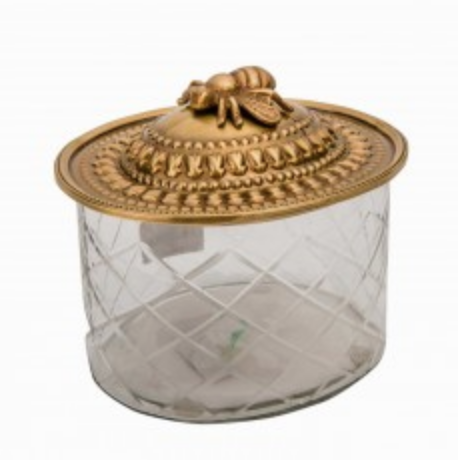 Bee Glass Trinket Box