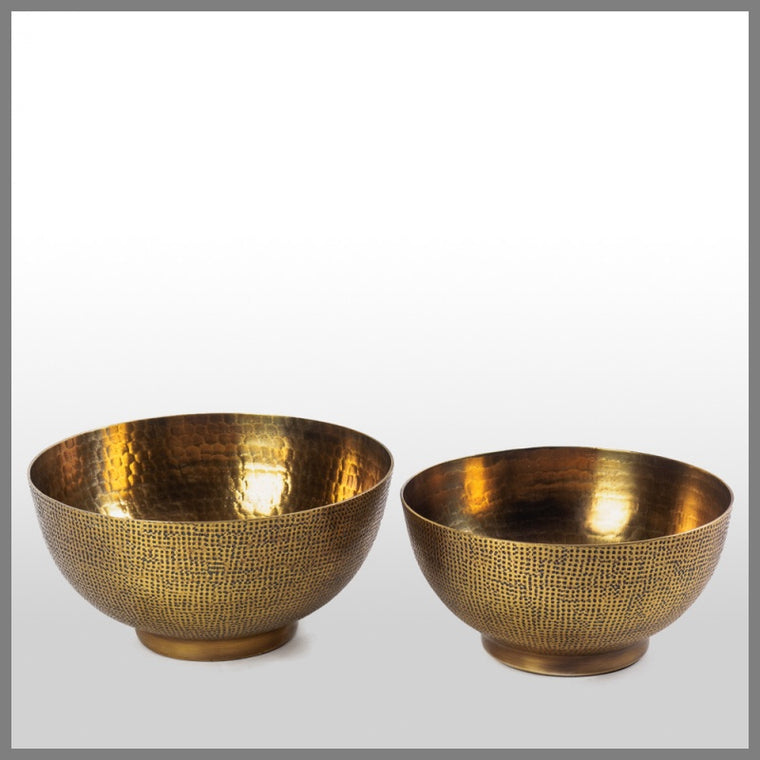 Hammered Bowl A/Brass