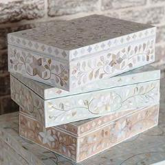Mother of Pearl Inlay Floral Box