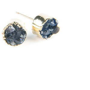Earrings Druzy Studs Round
