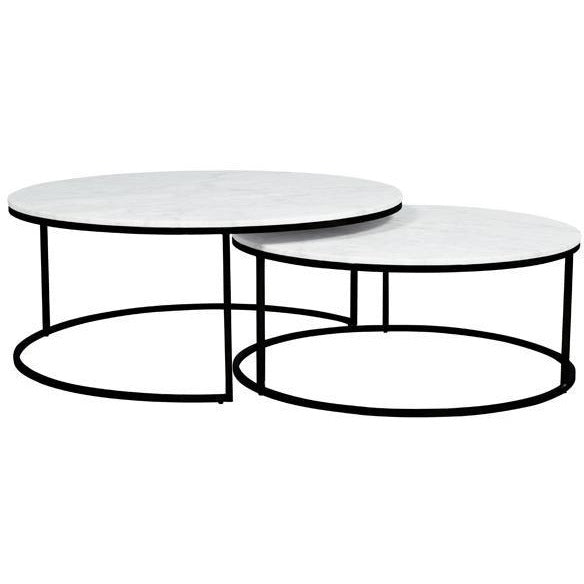 Elle Round Marble Nest Coffee Table