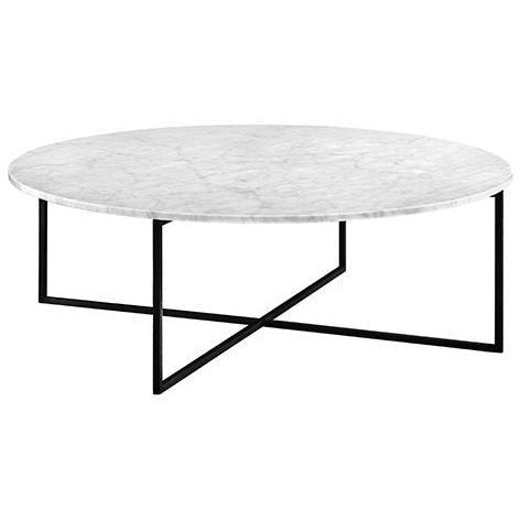 Elle Luxe Marble Round Coffee Table