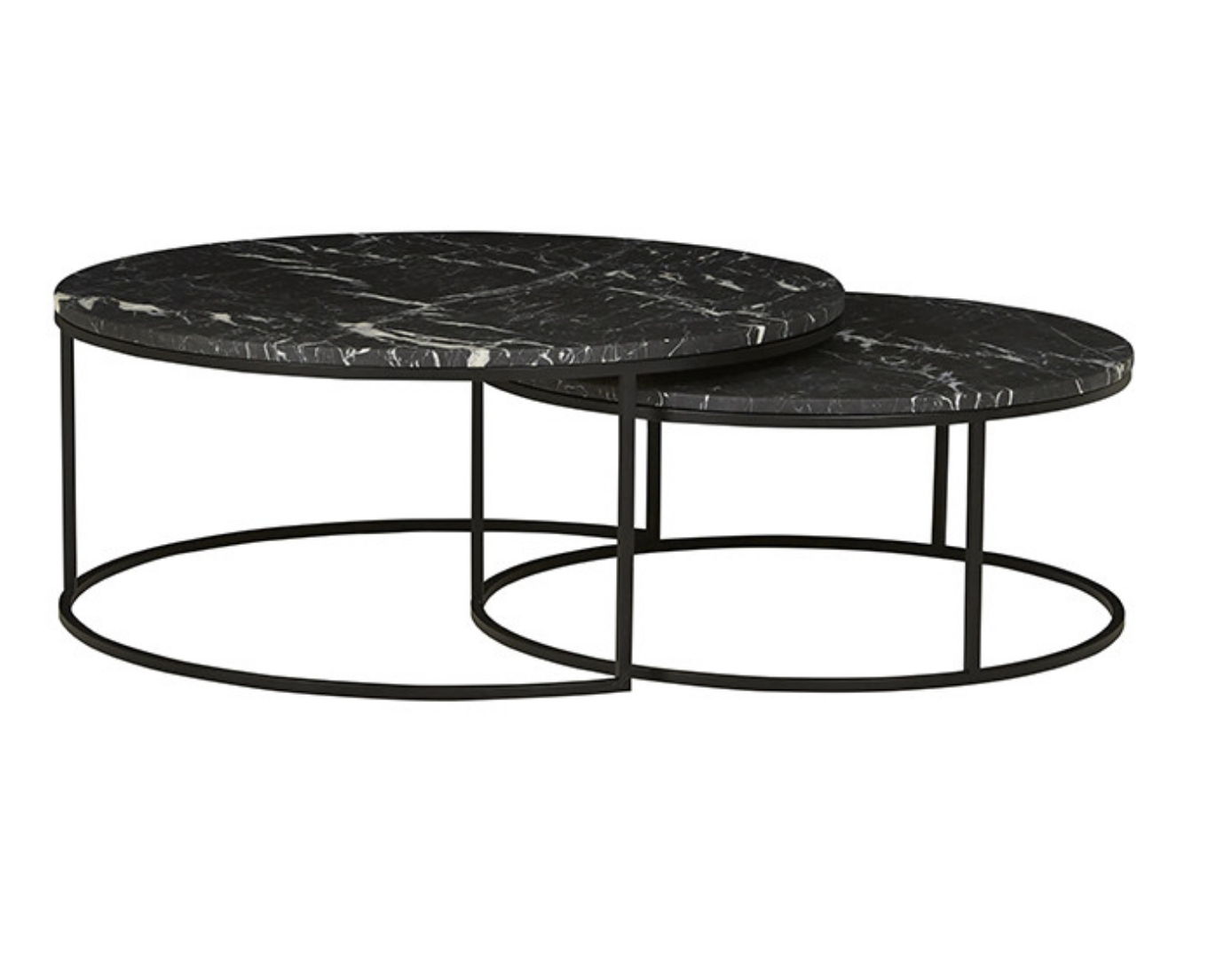 Picture of: Globewest Elle Round Marble Nest Coffee Table