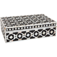 Black Mother of Pearl Inlay Box