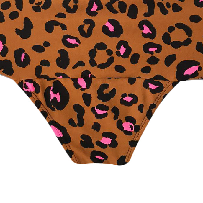 HOT PANT LEOPARDO CON ROSA