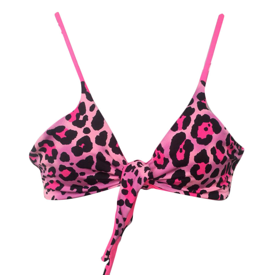 TOP LAZO LEOPARDO ROSA